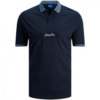 Poloshirt mit kontrastfarbenem Kragen, kurzarm blau_NAVYBLAZER | 3XL