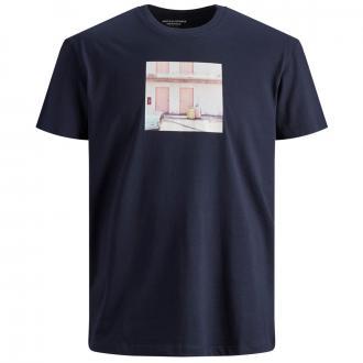 T-Shirt mit Frontprint blau_NAVYBLAZER | 3XL