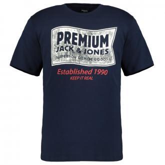 Modisches Print-Shirt blau_NAVYBLAZER | 3XL