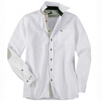 Elegantes Baumwoll-Trachtenhemd weiß_WEIß | 3XL