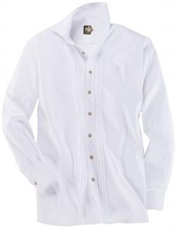 Trachtenhemd mit Biesen und Hornknöpfen weiß_WEIß | 3XL