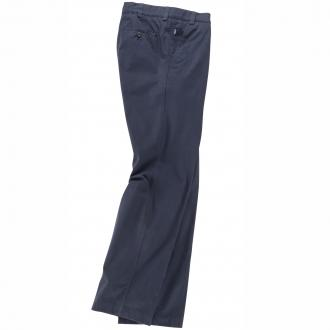 Bundfaltenhose aus feinem Pima Cotton-Gabardine blau_21 | 28