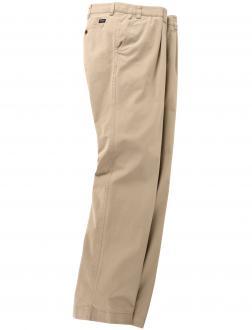 Bundfaltenhose aus feinem Pima Cotton-Gabardine beige_57 | 62