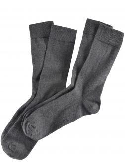 2er-Pack Socken mit Softrand dunkelgrau_300 | 43-46
