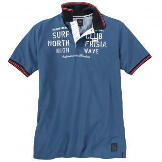 "Sportives ""Surf Club"" Poloshirt mittelblau_2251 | 6XL"