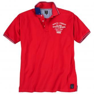 Bequemes Poloshirt mit Print rot_4002 | 3XL