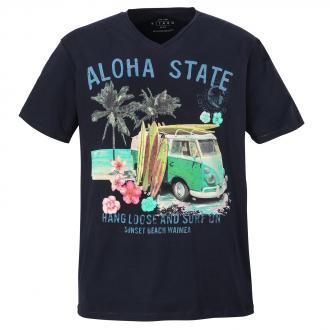 "Hawaiianisches T-Shirt ""Aloha State"" dunkelblau_210 | 3XL"