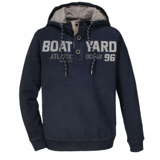 "Hoodie mit ""Boat Yard""-Print dunkelblau_210 | 3XL"