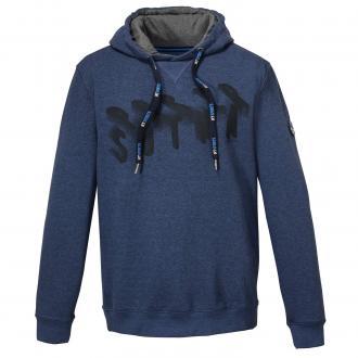 Baumwoll Sweatshirt mit Kapuze blau_52241 | 3XL
