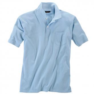 Basic Piqué-Polohemd in vielen Farben hellblau_273 | 3XL
