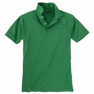 Basic Piqué-Polohemd in vielen Farben waldgrün_414   3XL