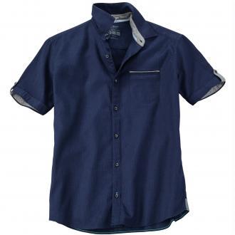 Freizeithemd mit dezentem Strukturmuster dunkelblau_5834 | XXL