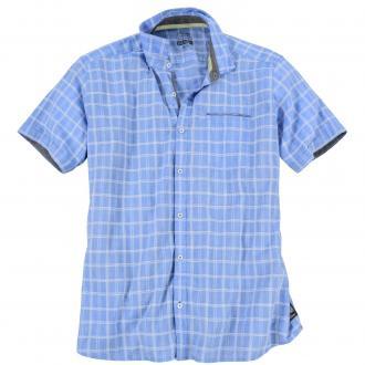 Kariertes Freizeithemd blau_55N6 | 3XL
