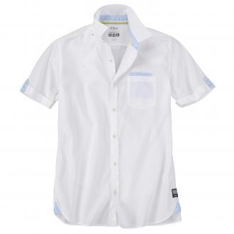 Freizeithemd mit modischen Akzenten weiß_0100 | 3XL