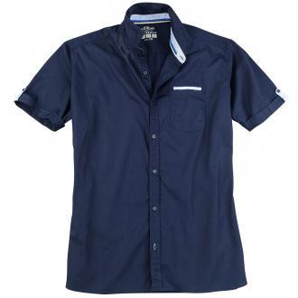 Freizeithemd mit modischen Akzenten dunkelblau_5834 | 3XL
