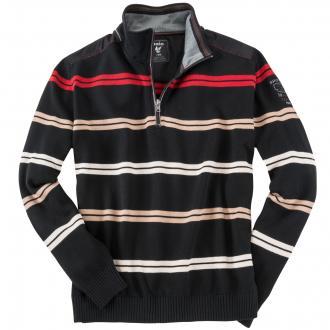 Strickpullover in Sweatshirt-Optik schwarz_100 | 3XL