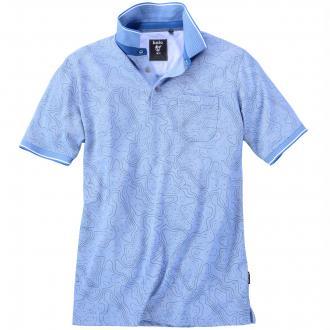 Bügelfreies Mikrofaser-Poloshirt blau_600 | 3XL
