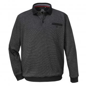 Leichtes Sweatshirt mit Struktur schwarz_100 | 3XL