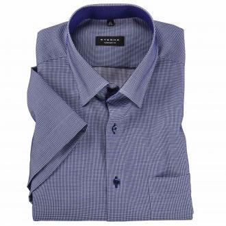 City-Hemd, kurzarm blau/weiß_180 | 45