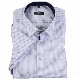 Modisch, gemustertes Kurzarmhemd blau/weiß_1500 | 48
