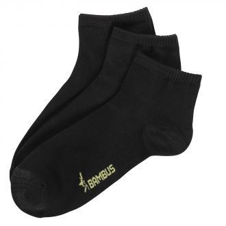 Diabetiker-Socken aus Bambus-Zellstoff im 3-er Pack schwarz_SCHWARZ | 43-46