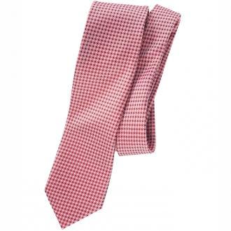 Dezent gemusterte Krawatte, reine Seide hellrot_ROT3 | One Size