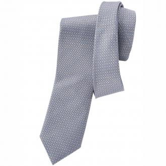 Leicht gemusterte Seiden-Krawatte grau_GRAU3 | One Size