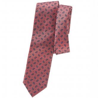 Krawatte mit Karo-Paisley-Kombination rot_ROT/BLAU | One Size