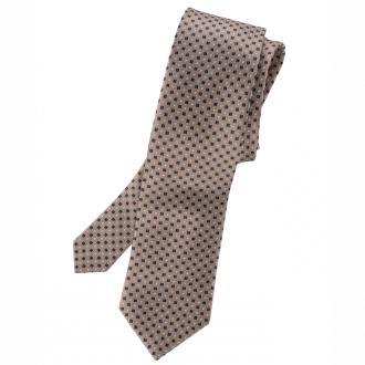 Krawatte mit akzentreichem Fantasiemuster beige_BEIGE/BLAU | One Size