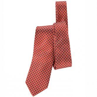 Krawatte mit akzentreichem Fantasiemuster rot_ROT/BLAU | One Size