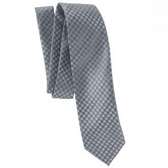 Krawatte mit fantasievollem Quadrat-Muster blau_GRAU/BLAU | One Size