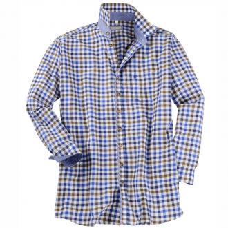 Kariertes Trachtenhemd langarm blau/weiß_43/1 | 7XL