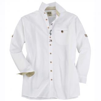 Klassisches Trachtenhemd langarm weiß_01 | 3XL
