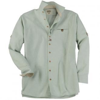 Klassisches Trachtenhemd langarm grün_53 | 3XL
