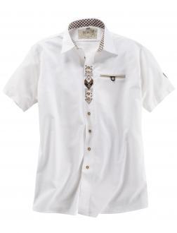 Kurzarm Trachtenhemd weiß_01 | 3XL