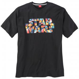 "Lässiges T-Shirt mit ""Star Wars""-Schriftzug kurzarm schwarz_99A3 | 3XL"