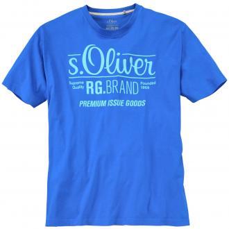 "Cooles T-Shirt mit auffälligem ""s.Oliver""-Schriftzug, kurzarm royalblau_5545 | 3XL"