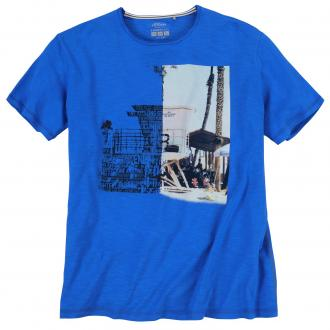 T-Shirt mit auffälligem Front-Print royalblau_5526 | 3XL