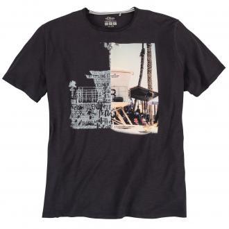 T-Shirt mit auffälligem Front-Print anthrazit_989700 | 3XL