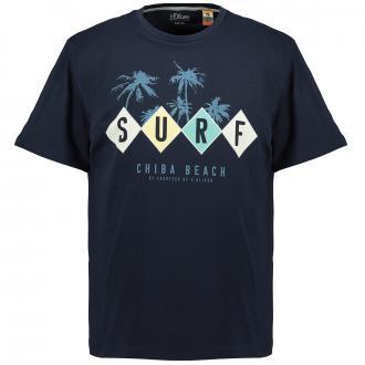 Sommerliches T-Shirt mit Surf-Print blau_58A1 | 3XL