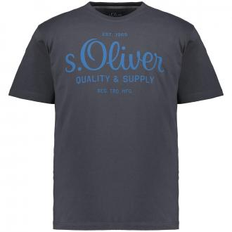 """T-Shirt mit gummiertem """"s.Oliver""""-Schriftzug anthrazit_9855   3XL"""