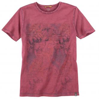 Stylishes T-Shirt mit coolem Front-Print rot_46 | 4XL
