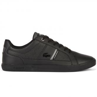 Lässiger Leder-Sneaker schwarz_024 | 43