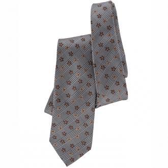 Krawatte mit origineller Musterkombination braun_GRAU/BRAUN | One Size