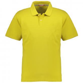 Basic-Poloshirt mit Logo-Stickerei, kurzarm gelb_1483 | 3XL