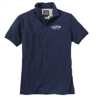 Lässiges Poloshirt mit sportivem Charakter dunkelblau_5877/400 | 3XL