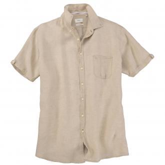 Luftiges Leinenhemd mit kurzem Arm beige_550 | 3XL