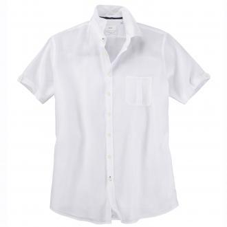 Luftiges Leinenhemd mit kurzem Arm weiß_99 | 5XL