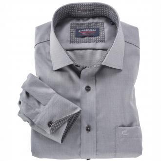 City Langarmhemd mit dezentem Design grau_750 | 4XL