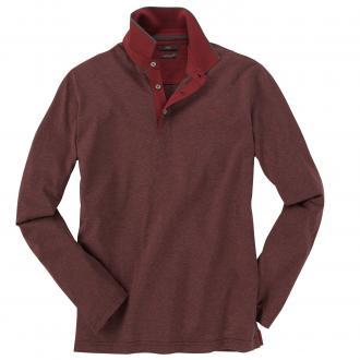 Poloshirt langarm ziegelrot_44 | 5XL